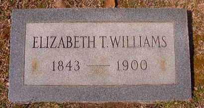 WILLIAMS, ELIZABETH T - Hempstead County, Arkansas | ELIZABETH T WILLIAMS - Arkansas Gravestone Photos