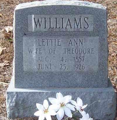 WILLIAMS, LETTIE ANN - Hempstead County, Arkansas   LETTIE ANN WILLIAMS - Arkansas Gravestone Photos