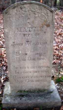 WILLIAMS, MATTIE - Hempstead County, Arkansas   MATTIE WILLIAMS - Arkansas Gravestone Photos