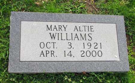 WILLIAMS, MARY ALTIE - Hempstead County, Arkansas | MARY ALTIE WILLIAMS - Arkansas Gravestone Photos