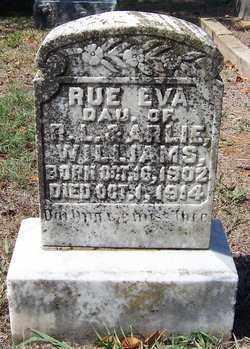 WILLIAMS, RUE EVA - Hempstead County, Arkansas   RUE EVA WILLIAMS - Arkansas Gravestone Photos