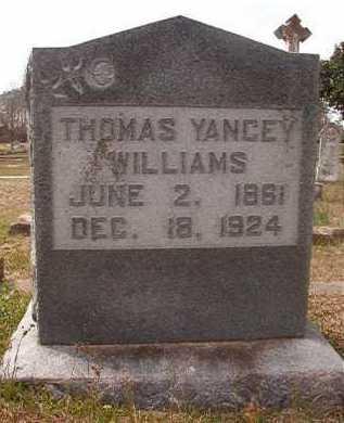WILLIAMS, THOMAS YANCY - Hempstead County, Arkansas | THOMAS YANCY WILLIAMS - Arkansas Gravestone Photos