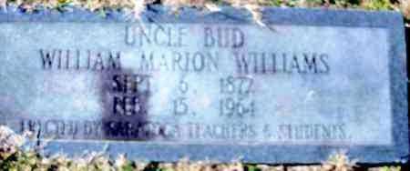 "WILLIAMS, WILLIAM MARION ""UNCLE BUD"" - Hempstead County, Arkansas | WILLIAM MARION ""UNCLE BUD"" WILLIAMS - Arkansas Gravestone Photos"