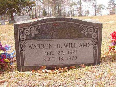 WILLIAMS, WARREN H. - Hempstead County, Arkansas | WARREN H. WILLIAMS - Arkansas Gravestone Photos