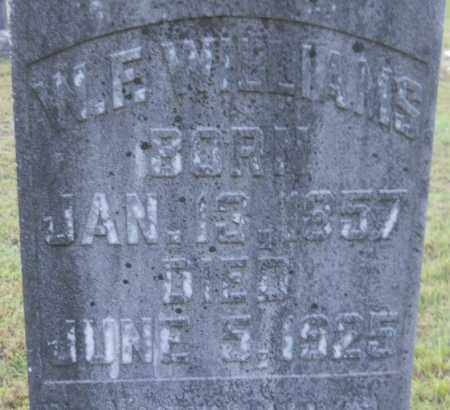 WILLIAMS, W F (CLOSEUP) - Hempstead County, Arkansas | W F (CLOSEUP) WILLIAMS - Arkansas Gravestone Photos