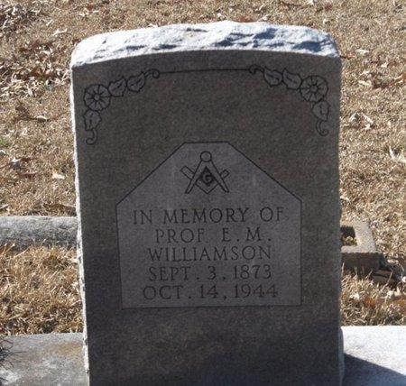 WILLIAMSON, E. M. - Hempstead County, Arkansas   E. M. WILLIAMSON - Arkansas Gravestone Photos