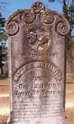 WILLIAMSON, MATTIE R - Hempstead County, Arkansas | MATTIE R WILLIAMSON - Arkansas Gravestone Photos