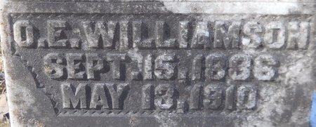 WILLIAMSON, O E (CLOSE UP) - Hempstead County, Arkansas | O E (CLOSE UP) WILLIAMSON - Arkansas Gravestone Photos