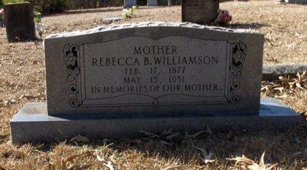 WILLIAMSON, REBECCA B - Hempstead County, Arkansas   REBECCA B WILLIAMSON - Arkansas Gravestone Photos