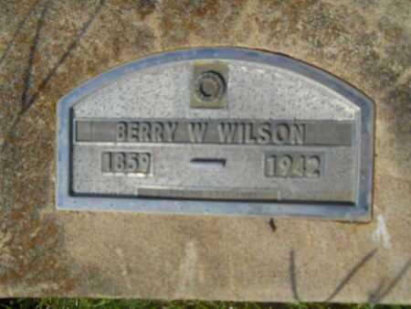 WILSON, BERRY W - Hempstead County, Arkansas | BERRY W WILSON - Arkansas Gravestone Photos