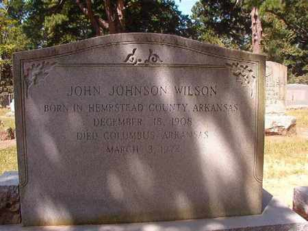 WILSON, JOHN JOHNSON - Hempstead County, Arkansas | JOHN JOHNSON WILSON - Arkansas Gravestone Photos