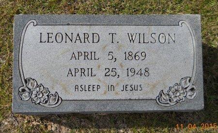 WILSON, LEONARD T - Hempstead County, Arkansas   LEONARD T WILSON - Arkansas Gravestone Photos