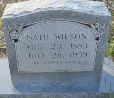 WILSON, NATH (2ND STONE) - Hempstead County, Arkansas | NATH (2ND STONE) WILSON - Arkansas Gravestone Photos