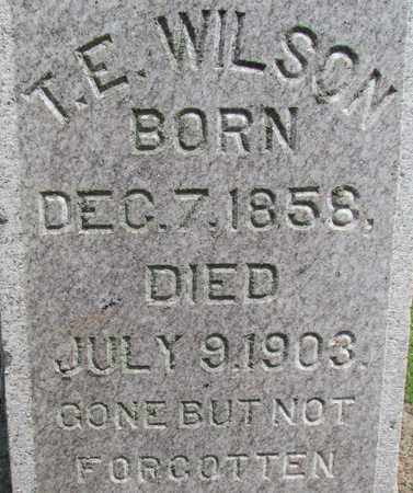 WILSON, T E (CLOSEUP) - Hempstead County, Arkansas   T E (CLOSEUP) WILSON - Arkansas Gravestone Photos