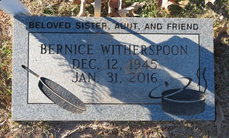 WITHERSPOON, BERNICE - Hempstead County, Arkansas | BERNICE WITHERSPOON - Arkansas Gravestone Photos