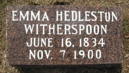 WITHERSPOON, EMMA - Hempstead County, Arkansas   EMMA WITHERSPOON - Arkansas Gravestone Photos