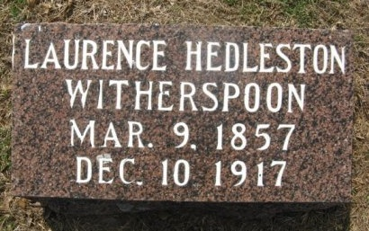 WITHERSPOON, LAURENCE HEDLESTON - Hempstead County, Arkansas | LAURENCE HEDLESTON WITHERSPOON - Arkansas Gravestone Photos
