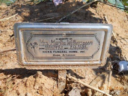 WITHERSPOON, MARTHA - Hempstead County, Arkansas | MARTHA WITHERSPOON - Arkansas Gravestone Photos
