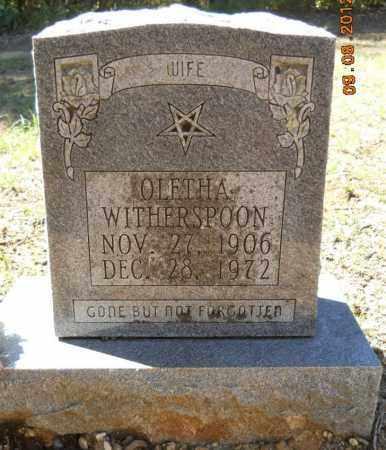 WITHERSPOON, OLETHA - Hempstead County, Arkansas | OLETHA WITHERSPOON - Arkansas Gravestone Photos