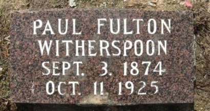 WITHERSPOON, PAUL FULTON - Hempstead County, Arkansas | PAUL FULTON WITHERSPOON - Arkansas Gravestone Photos