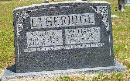BENTON ETHERIDGE, SALLIE A - Hempstead County, Arkansas | SALLIE A BENTON ETHERIDGE - Arkansas Gravestone Photos