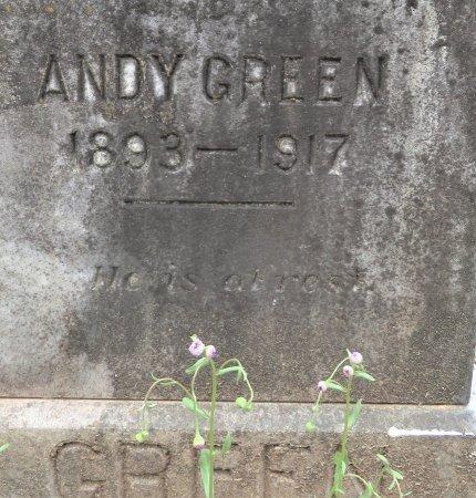 GREEN, ANDY (CLOSEUP) - Hempstead County, Arkansas   ANDY (CLOSEUP) GREEN - Arkansas Gravestone Photos