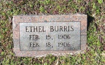 BURRIS, ETHEL - Hot Spring County, Arkansas   ETHEL BURRIS - Arkansas Gravestone Photos