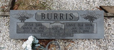 BURRIS, JESSIE EARL - Hot Spring County, Arkansas | JESSIE EARL BURRIS - Arkansas Gravestone Photos
