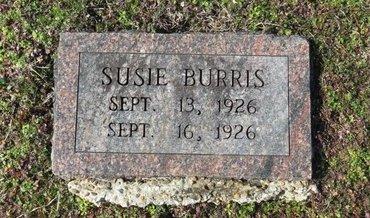 BURRIS, SUSIE - Hot Spring County, Arkansas   SUSIE BURRIS - Arkansas Gravestone Photos