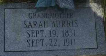 BURRIS, SARAH - Hot Spring County, Arkansas   SARAH BURRIS - Arkansas Gravestone Photos