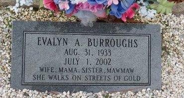 BURROUGHS, EVALYN A. - Hot Spring County, Arkansas   EVALYN A. BURROUGHS - Arkansas Gravestone Photos