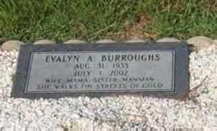 BURROUGHS, EVALYN ALINE - Hot Spring County, Arkansas   EVALYN ALINE BURROUGHS - Arkansas Gravestone Photos