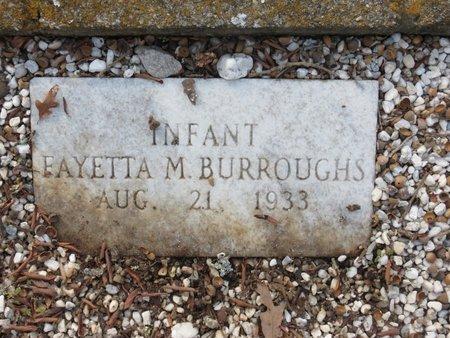 BURROUGHS, FAYETTA M - Hot Spring County, Arkansas   FAYETTA M BURROUGHS - Arkansas Gravestone Photos