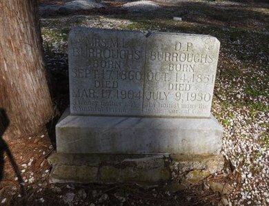 BURROUGHS, M.L.,MRS - Hot Spring County, Arkansas | M.L.,MRS BURROUGHS - Arkansas Gravestone Photos