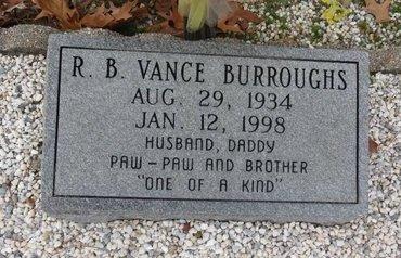 BURROUGHS, R.B. VANCE - Hot Spring County, Arkansas | R.B. VANCE BURROUGHS - Arkansas Gravestone Photos