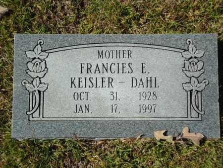 KEISLER DAHL, FRANCES E - Hot Spring County, Arkansas   FRANCES E KEISLER DAHL - Arkansas Gravestone Photos