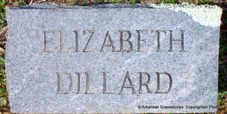 DILLARD, ELIZABETH - Hot Spring County, Arkansas | ELIZABETH DILLARD - Arkansas Gravestone Photos