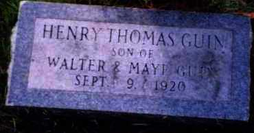 GUIN, HENRY THOMAS - Hot Spring County, Arkansas | HENRY THOMAS GUIN - Arkansas Gravestone Photos