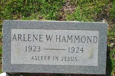 HAMMOND, ARLENE W. - Hot Spring County, Arkansas | ARLENE W. HAMMOND - Arkansas Gravestone Photos