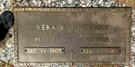 JOHNSON, VERA K - Hot Spring County, Arkansas | VERA K JOHNSON - Arkansas Gravestone Photos
