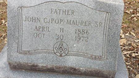 MAURER, JOHN C. - Hot Spring County, Arkansas | JOHN C. MAURER - Arkansas Gravestone Photos