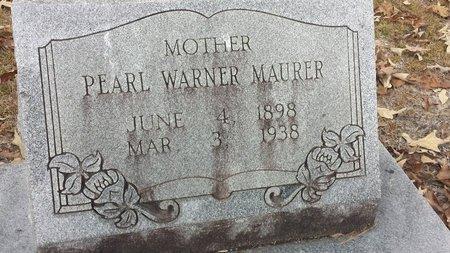 WARNER MAURER, PEARL - Hot Spring County, Arkansas | PEARL WARNER MAURER - Arkansas Gravestone Photos