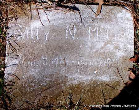 MCCOY, BILLY N - Hot Spring County, Arkansas | BILLY N MCCOY - Arkansas Gravestone Photos