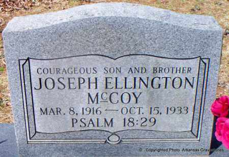 MCCOY, JOSEPH ELLINGTON - Hot Spring County, Arkansas   JOSEPH ELLINGTON MCCOY - Arkansas Gravestone Photos