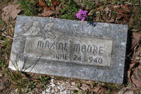 MOORE, MAXINE - Hot Spring County, Arkansas | MAXINE MOORE - Arkansas Gravestone Photos
