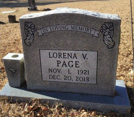 PAGE, LORENA V. - Hot Spring County, Arkansas | LORENA V. PAGE - Arkansas Gravestone Photos
