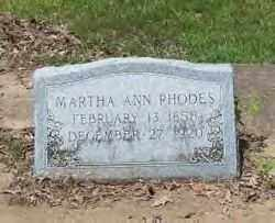 RHODES, MARTHA ANN - Hot Spring County, Arkansas | MARTHA ANN RHODES - Arkansas Gravestone Photos