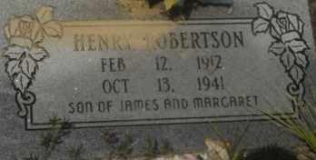 ROBERTSON, HENRY - Hot Spring County, Arkansas   HENRY ROBERTSON - Arkansas Gravestone Photos