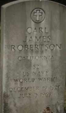 ROBERTSON (VETERAN WWII), CARL JAMES - Hot Spring County, Arkansas | CARL JAMES ROBERTSON (VETERAN WWII) - Arkansas Gravestone Photos