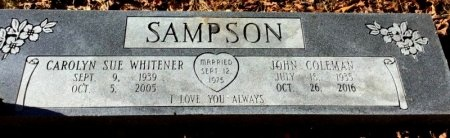 SAMPSON, CAROLYN SUE - Hot Spring County, Arkansas | CAROLYN SUE SAMPSON - Arkansas Gravestone Photos